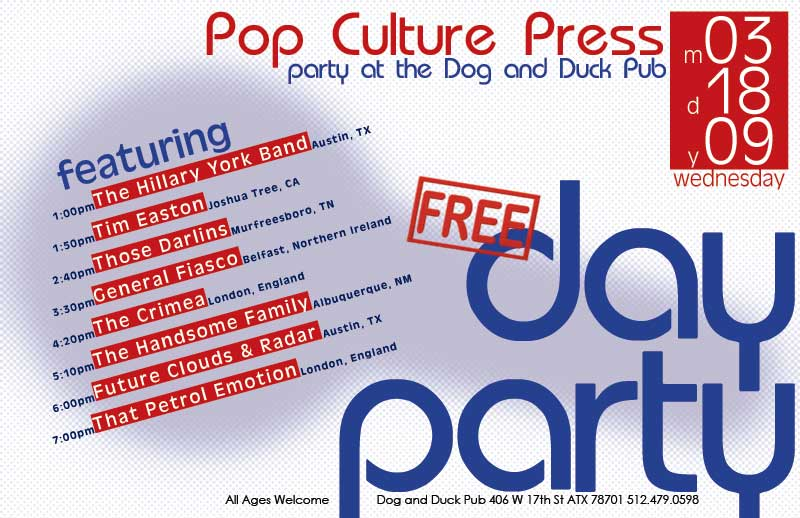 SxSW Pop Culture Press Party Poster